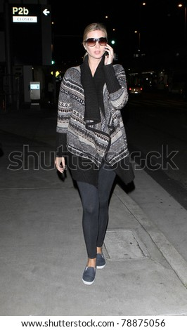 LOS ANGELES-FEBRUARY 16: Actress/socialite Ivanka Trump daughter of Donald Trump is seen at LAX. February 16, 2010 in Los Angeles, California. - stock photo