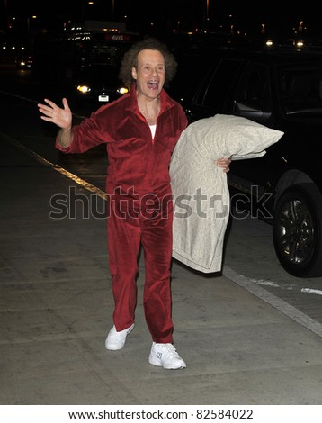 LOS ANGELES-FEBRUARY 28: Celebrity Richard Simmons at LAX airport . February 28 in Los Angeles, California 2010 - stock photo