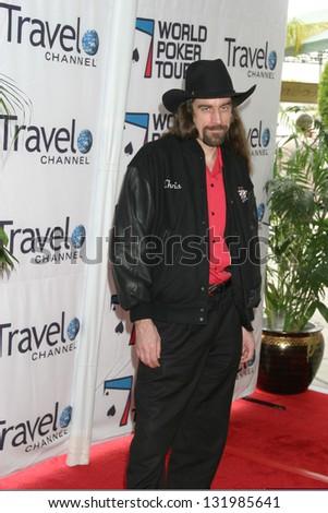 LOS ANGELES - FEBRUARY 23: Chris Ferguson participates at Invitational LA Poker Classic & World Tour in Commerce Casino February 23, 2005 in Los Angeles, CA. - stock photo