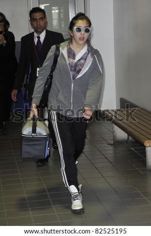 LOS ANGELES-FEBRUARY 26: Singer Madonna's daughter Lourdes is seen at LAX. February 26, 2010 in Los Angeles, California
