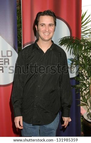 LOS ANGELES - FEBRUARY 23: Wil Wheaton participates at Invitational LA Poker Classic & World Tour in Commerce Casino February 23, 2005 in Los Angeles, CA. - stock photo