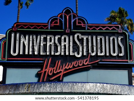 Los Angeles, Hollywood, USA - july 16 2016 : the Universal studios park