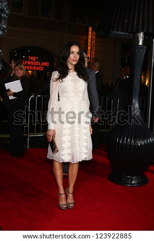 LOS ANGELES - JAN 7:  Abigail Spencer arrives at the 'Gangster Squad' Premiere at Graumans Chinese Theater on January 7, 2013 in Los Angeles, CA - stock photo