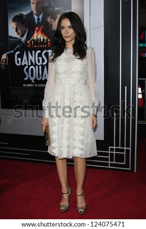 LOS ANGELES - JAN 7: Abigail Spencer at Warner Bros. Pictures' 'Gangster Squad' premiere at Grauman's Chinese Theater on January 7, 2013 in Los Angeles, California - stock photo