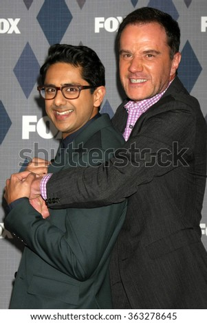 LOS ANGELES - JAN 15:  Adhir Kalyan, Tim DeKay at the FOX Winter TCA 2016 All-Star Party at the Langham Huntington Hotel on January 15, 2016 in Pasadena, CA - stock photo