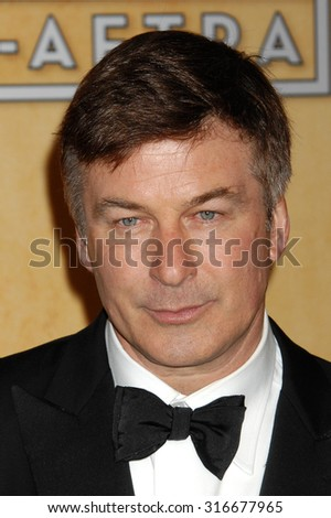 LOS ANGELES - JAN 27 - Alec Baldwin arrives at the 19th Annual Screen Actors Guild Awards Press Room  on January 27, 2013 in Los Angeles, CA              - stock photo