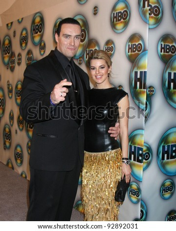 LOS ANGELES - JAN 15:  Alexander Nevsky, Oxana Sidorenko. arrives at  the HBO Golden Globe Party 2012 at Beverly Hilton Hotel on January 15, 2012 in Beverly Hills, CA - stock photo
