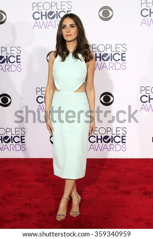 LOS ANGELES - JAN 6:  Alison Brie at the Peoples Choice Awards 2016 - Arrivals at the Microsoft Theatre L.A. Live on January 6, 2016 in Los Angeles, CA - stock photo