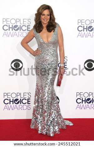 LOS ANGELES - JAN 7: Allison Janney at the 2015 People's Choice Awards at Nokia Theater L.A. Live on January 7, 2015 in Los Angeles, California - stock photo