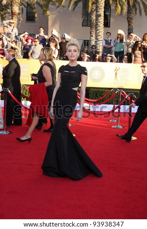 LOS ANGELES - JAN 29:  Amber Heard arrives at the 18th Annual Screen Actors Guild Awards at Shrine Auditorium on January 29, 2012 in Los Angeles, CA
