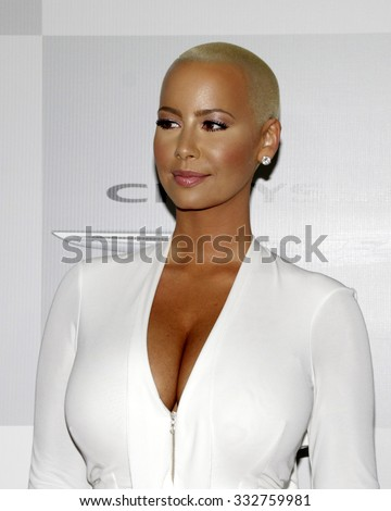LOS ANGELES - JAN 11:  Amber Rose at the NBC Post Golden Globes Party at a Beverly Hilton on January 11, 2015 in Beverly Hills, CA - stock photo