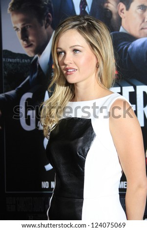 LOS ANGELES - JAN 7: Ambyr Childers at Warner Bros. Pictures' 'Gangster Squad' premiere at Grauman's Chinese Theater on January 7, 2013 in Los Angeles, California - stock photo