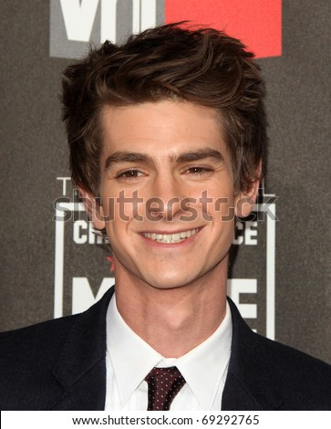 "LOS ANGELES - JAN 14:  Andrew Garfield arrives at the 16th Annual ""Critics"" Choice Movie Awards  on January 14, 2011 in Los Angeles, CA - stock photo"