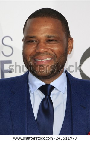LOS ANGELES - JAN 7: Anthony Anderson at the 2015 People's Choice Awards at Nokia Theater L.A. Live on January 7, 2015 in Los Angeles, California - stock photo