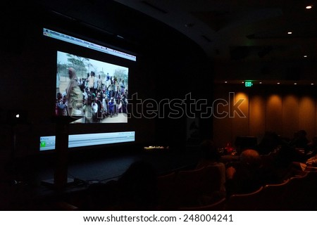 LOS ANGELES - JAN 28: Atmosphere at the 30th Anniversary of 'We Are The World' at The GRAMMY Museum on January 28, 2015 in Los Angeles, California - stock photo