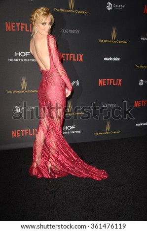 LOS ANGELES - JAN 10:  Bar Paly at the Weinstein Company & Netflix 2016 Golden Globe After Party at the Beverly Hilton on January 10, 2016 in Beverly Hills, CA - stock photo