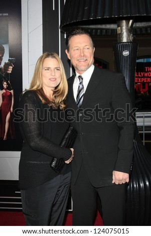 LOS ANGELES - JAN 7: Barbara Patrick, Robert Patrick at Warner Bros. Pictures' 'Gangster Squad' premiere at Grauman's Chinese Theater on January 7, 2013 in Los Angeles, California - stock photo