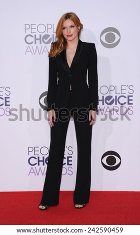 LOS ANGELES - JAN 07:  Bella Thorne arrives to the People's Choice Awards 2014  on January 7, 2015 in Los Angeles, CA                 - stock photo