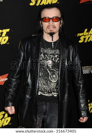 LOS ANGELES - JAN 14 - Billy Blair arrives at The Last Stand World Premiere on January 14, 2013 in Hollywood, CA              - stock photo