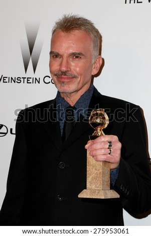 LOS ANGELES - JAN 11:  Billy Bob Thornton at the The Weinstein Company / Netflix Golden Globes After Party at a Beverly Hilton Adjacent on January 11, 2015 in Beverly Hills, CA - stock photo