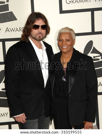 LOS ANGELES - JAN 26:  Billy Ray Cyrus and Dionne Warwick arrives at the 56th Annual Grammy Awards Arrivals  on January 26, 2014 in Los Angeles, CA                 - stock photo