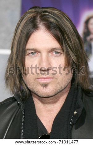 "LOS ANGELES - JAN 17:  Billy Ray Cyrus arrives at the ""Hannah Montana & Miley Cyrus: Best of Both Worlds Concert""  Premiere  at El Capitan Theater on January 17, 2008 in LOS ANGELES, CA - stock photo"
