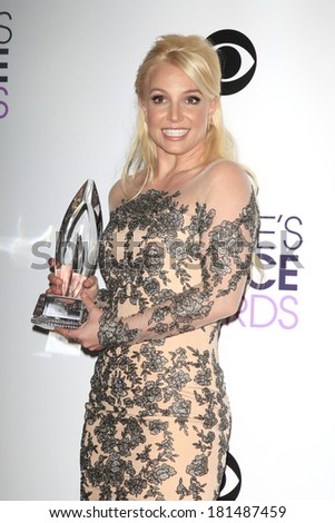 LOS ANGELES - JAN 8: Britney Spears at The People's Choice Awards at the Nokia Theater L.A. Live on January 8, 2014 in Los Angeles, California - stock photo