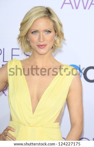 LOS ANGELES - JAN 9: Brittany Snow at the 39th Annual People's Choice Awards at Nokia Theater L.A. Live on January 9, 2013 in Los Angeles, California - stock photo