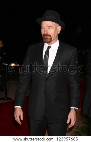 LOS ANGELES - JAN 5:  Bryan Cranston arrives at the 2013 Palm Springs International Film Festival Gala  at Palm Springs Convention Center on January 5, 2013 in Palm Springs, CA