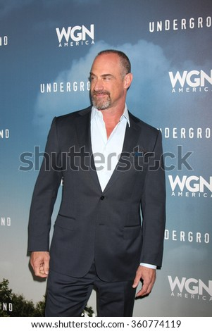 LOS ANGELES - JAN 8:  Chirs Meloni at the Underground WGN Winter 2016 TCA Photo Call at the The Langham Huntington Hotel on January 8, 2016 in Pasadena, CA