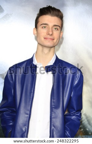 """LOS ANGELES - JAN 27:  Chris Collins at the """"Project Almanac"""" Los Angeles Premiere at a TCL Chinese Theater on January 27, 2015 in Los Angeles, CA - stock photo"""