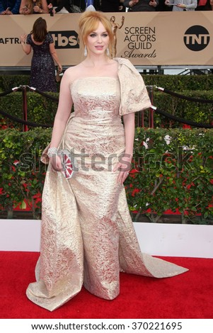 LOS ANGELES - JAN 30:  Christiina Hendricks at the 22nd Screen Actors Guild Awards at the Shrine Auditorium on January 30, 2016 in Los Angeles, CA - stock photo