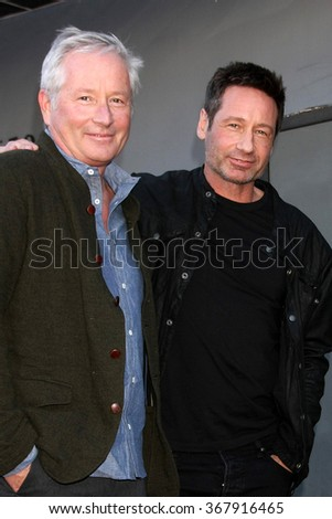 LOS ANGELES - JAN 25:  Daniel Ducovny, David Duchovny at the David Duchovny Hollywood Walk of Fame Star Ceremony at the Fox Theater on January 25, 2016 in Los Angeles, CA - stock photo