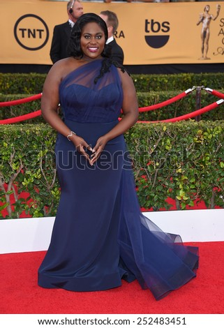 LOS ANGELES - JAN 25:  Danielle Brooks arrives to the 21st Annual Screen Actors Guild Awards  on January 25, 2015 in Los Angeles, CA                 - stock photo