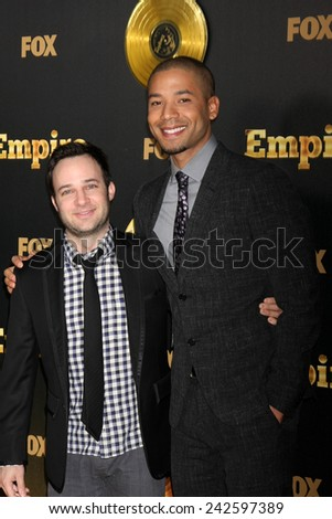 "LOS ANGELES - JAN 6:  Danny Strong, Jusse Smollett at the FOX TV ""Empire"" Premiere Event at a ArcLight Cinerama Dome Theater on January 6, 2014 in Los Angeles, CA - stock photo"