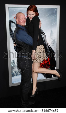 LOS ANGELES - JAN 24 - Derek Mears and date arrives at the Hansel and Gretel Witch Hunters Los Angeles Premiere on January 24, 2013 in Hollywood, CA              - stock photo