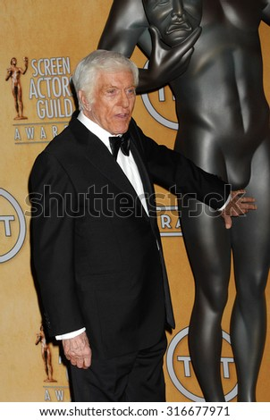 LOS ANGELES - JAN 27 - Dick Van Dyke arrives at the 19th Annual Screen Actors Guild Awards Press Room  on January 27, 2013 in Los Angeles, CA              - stock photo