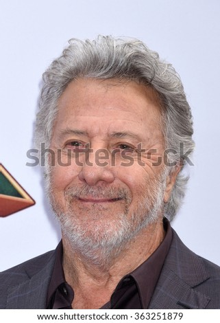 LOS ANGELES - JAN 16 - Dustin Hoffman arrives at the Kung Fu Panda 3 World Premiere on January 16,  2016 in Hollywood, CA              - stock photo