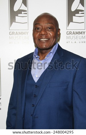 LOS ANGELES - JAN 28: Earl Bryant at the 30th Anniversary of 'We Are The World' at The GRAMMY Museum on January 28, 2015 in Los Angeles, California - stock photo