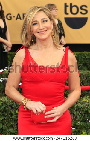 LOS ANGELES - JAN 25:  Edie Falco at the 2015 Screen Actor Guild Awards at the Shrine Auditorium on January 25, 2015 in Los Angeles, CA - stock photo