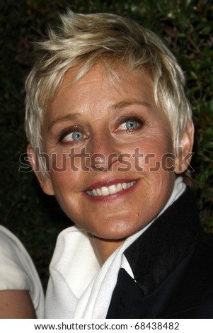 LOS ANGELES - JAN 5:  Ellen DeGeneres arrives at the COVERGIRL 50th Anniversary Celebration at BOA Steakhouse on January 5, 2011 in West Hollywood, CA - stock photo