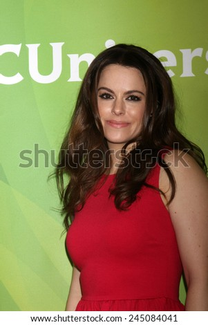 LOS ANGELES - JAN 15:  Emily Hampshire at the NBCUniversal Cable TCA Press Tour at the Huntington Langham Hotel on January 15, 2014 in Pasadena, CA - stock photo