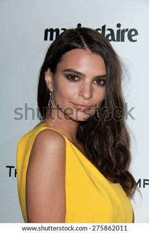 LOS ANGELES - JAN 11:  Emily Ratajkowski at the The Weinstein Company / Netflix Golden Globes After Party at a Beverly Hilton Adjacent on January 11, 2015 in Beverly Hills, CA - stock photo