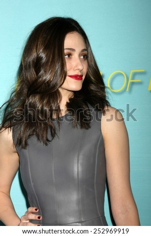 "LOS ANGELES - JAN 5:  Emmy Rossum at the Showtime Celebrates All-New Seasons Of ""Shameless,"" ""House Of Lies"" And ""Episodes"" on January 5, 2014 in West Hollywood, CA - stock photo"