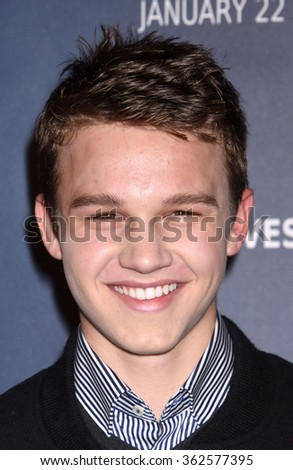 LOS ANGELES - JAN 14 - Gavin Macintosh arrives at The 5th Wave Special Screening on January 14,  2016 in Los Angeles, CA