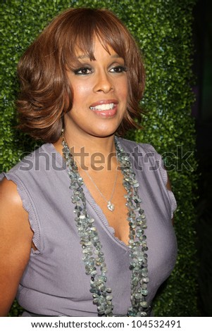 LOS ANGELES - JAN 6:  Gayle King arrives at the Oprah Winfrey Network Winter 2011 TCA Party at The Langham Huntington Hotel on January 6, 2011 in Pasadena, CA. - stock photo