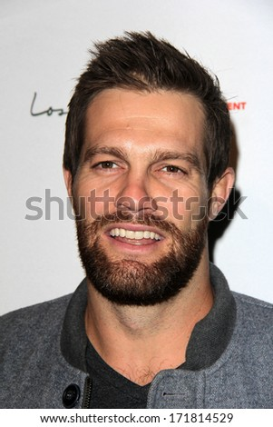 LOS ANGELES - JAN 5:  Geoff Stults at the BCS National Championship Party at Pasadena Convention Center on January 5, 2014 in Pasadena, CA - stock photo