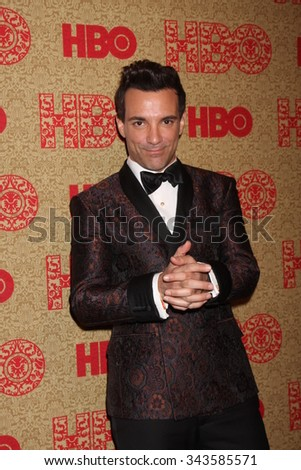 LOS ANGELES - JAN 12:  George Kotsiopoulos at the HBO 2014 Golden Globe Party at the Beverly Hilton Hotel on January 12, 2014 in Beverly Hills, CA - stock photo