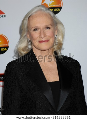 LOS ANGELES - JAN 12 - Glenn Close arrives at the 2013 GDay USA Los Angeles Black Tie Gala  on January 12, 2013 in Los Angeles, CA              - stock photo