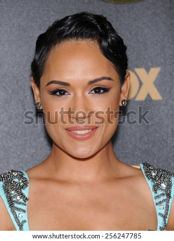 "LOS ANGELES - JAN 06:  Grace Gealey arrives to the ""Empire"" Los Angeles Premiere  on January 6, 2015 in Hollywood, CA                 - stock photo"